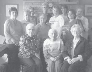 A group of friends recently paid a visit to former Letcher County resident and longtime friend Ruby Breeding at the home of her daughter and son-in-law, Claudetta and Hal Adams, in Louisville. Charles Ritchie served as 'bus driver'. Pictured are (front row, left to right) Mabel Jo Buttrey, Ruby Breeding, Josephine Breeding, (second row) Shirley Combs, Lorraine Kuracka, Dixie Hall, Vicki Brashear, Paula Day, (back row) Shirley Breeding, Marietta Collins, Linda Clark, and Cora Lou Adams.