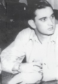 Everett Vanover is pictured above at 20 years old with five years of military service in 1948. He was stationed at Lackland Air Base, Texas, and had charge of the printing department. Below, he was photographed on his 82nd birthday. He was crew chief at Langley Field, Va., in '47 and '48.
