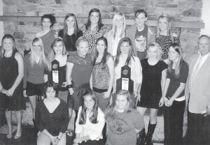 The Letcher County Central High School soccer team finished the 2010 with a record of 22-1. Pictured are (front, left to right) Destiny Sturgill, Lindsey Williams, Lauren Noble, (middle) Savannah Reynolds, Lindsey Kincer, Erica Adams, Megan Sizemore, Jasmine Glispie, Brandi Porter, Courtney Venters, Kelsi Cornett, Greg Collins, (back) Brooke Kincer, Kyli Breeding, Arianna Collins, Meg Raleigh, Erica Meade, and Auberney Campbell.