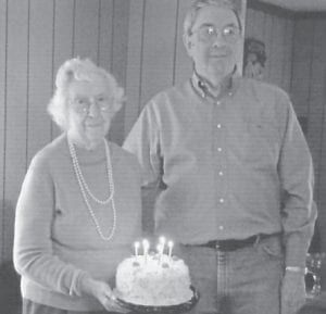 Elsie Banks celebrated her 96th birthday March 27. Pictured with her is her son, Carl Bennett Banks.