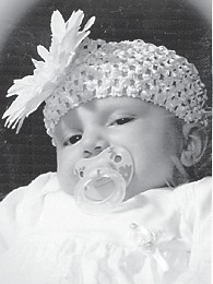 was born Dec. 14 to Bobby and Samantha Ratliff of Hazard. Her grandparents are Charlotte and David Jones of Hazard, Kay and Carl David Ratliff of Hindman, and Stephen and Cyndee Trent of Whitco. She is the greatgranddaughter of Billy and Thelma Hall of Mayking, Jack and Pat Trent of Whitesburg, and Bill and Yvonne Wilson of Dry Fork.