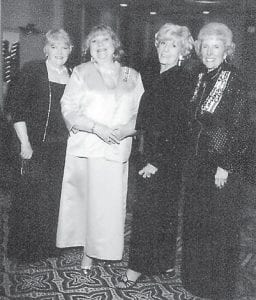 Members of the Pine Mountain Chapter of the Daughters of the American Revolution who attended a DAR state conference recently are (left to right) Chapter Regent Marsha Banks, Treasurer Ann Reynolds, Chaplin Sally Caudill, and 1st Vice Regent Kay Combs Moore.