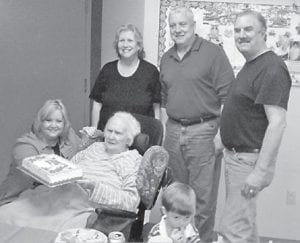 Former Whitesburg resident Loraine Perry turned 84 years old on March 6. She is now living at Tri State Rehab in Harrogate, Tenn. She is the mother of Danola Gibson, Roanoke, Va.; Roger Perry, Nicholasville; Carl Perry, Speedwall, Tenn.; and Brenda Hurt, Thornton, and has eight grandchildren and eight great-grandchildren