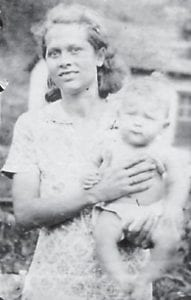 Thelma and Harold Cornett are pictured in Marlowe in 1940. She was the wife of Curt Cornett and lived in Marlowe from 1926 to 1944. They then lived at Graveyard Hollow and moved to Blackey in 1949. The Cornetts had three other sons, James, Richard and Orell.