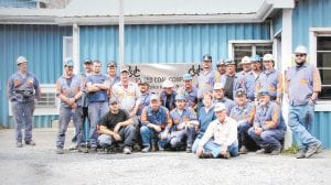 Employees at the Sapphire Preparation Plant have reached a milestone in safety, working seven years without a lost time accident. They and guests recently celebrated the event with a dinner. Pictured are Brian Lucas, Dwayne Caudill, Randy Hammonds, Brandon Webb, Anthony Lewis, Avin Brown, Chris McFall, Mike Hobson, Tracy Madden, Donald Bolling, Ronnie Hammonds, Donald Herron, Erich Hurt, Kim Combs, Keith Webb, Chad Bates, Jr. Holbrook, Gary Brown, Darrell Sturgill, Larry Blair, Wayne Collins, Rick Bentley, Roger Hampton and Steve Cook. Not pictured are A.J. Linquist, Marvin Boggs and David Gilliam.
