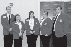 Students at Hazard Community and Technical College recently participated in the Skills USA Kentucky Leadership and Skills Conference in Louisville. Pictured are (left to right) Tony Back, Skills USA chapter advisor; Shelly Belcher of Millstone, architectural drafting and related technical math, second place; Jessica Hollenbeck of Whitesburg, related technical math, first place, and technical drafting, third place; Kristy Taylor of Seco, architectural drafting, second place; and Robert Eason of Hazard, technical drafting.