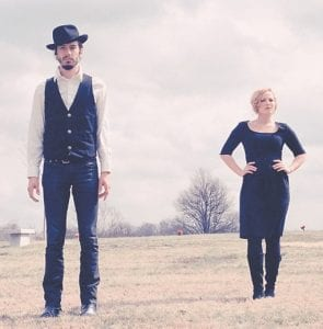 Cory Chisel, left, will perform in Whitesburg on Friday with backing vocalist/keyboard player Adriel Harris, right.
