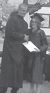 Ramie Hensley was graduated from Alice Lloyd College on May 14. She is married to Chris Hensley of Whitesburg. Her parents are Laramie and Sharon Adams of Jeremiah. She received a bachelor of arts degree in sports and fitness programs management and plans to work in recreation or coaching. She is currently residing in Whitesburg with her husband.