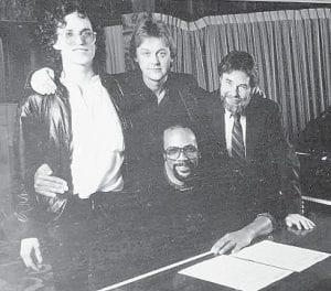 (Left to right) Steve Pocoro, Doug Buttleman, Ed Cornett and Quincy Jones.