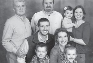 Robert Hatton is pictured with his son Dr. Kevin Hatton, wife Adrienne and sons Will and Loren, and daughter Rocki Hill, husband Matt and daughter Elise.