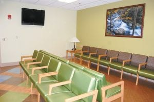 Pictured above is a new waiting area located in the 15,000-square-foot addition of Whitesburg ARH, which includes space for surgery, postpartum, obstetrics and nursery.