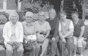 Pictured are Ruby Cooper Niece of Stanton, Kathleen Niece Hall of Buchanan, Tenn., Merileen Niece Cogdil of LaBelle, Fla., Eva Niece Martin of Corbin, Donna Niece Jackson of Greenfield, Ind. and Tammy Niece of Corbin. Ruby Niece, Hall and Cogdil are the daughters of the late Joe and Bessie Hatton Niece of Whitco. Martin, Jackson and Tammy Niece are the daughters of the late Joe and Cuba Hammonds Niece of Ice.