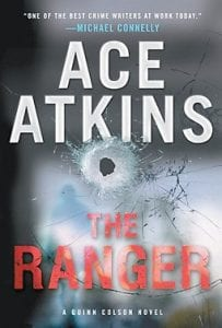 """The book cover of """"The Ranger"""" by Ace Atkins is shown in photo above. (AP Photo/G.P. Putnam's Sons)"""