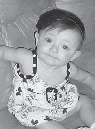 SOPHIA LEEANN ADAMS turned 10 months old on June 18. She is the daughter of Sheblena and Derrick Adams. Her grandparents are Debra Seals, and Chris and Diane Sexton. She is the great-granddaughter of Dennis and Shelby Seals, and L.C. and Joyce Adams.