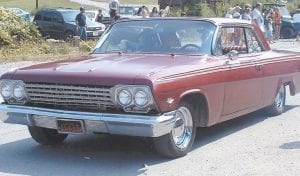 "Greg ""Gabby"" Caudill drove his customized 1962 Chevy Impala through the Isom Days parade for the fifth year in a row."