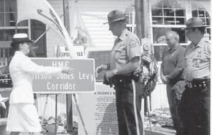 Allison 'Chief' Levy and family would like to thank Letcher County Veterans Memorial Museum; Darrell Holbrook, Buddy Grubb & Sam Hush; State Representative Leslie Combs; County Judge/Executive Jim Ward; Sheriff Danny Webb; Whitesburg Fire Department; State of Kentucky Department of Transportation & Sara George; Colonel Ben E. Caudill Camp #1629 Richard, Wendell and Glen Brown; 1st Sergeant Wayne Watts & the Letcher County Central High School JROTC Color Guard; Food World of Neon, Ky.; Millstone Missionary Baptist Church & Henry Toler; Arius Holbrook Jr. and Rick Fleming; Abby's Cakes of Wise, Va.; Kevin Day & WXKQ for their support with the celebration and dedication of the road sign to honor Allison.