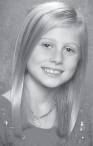 TEN YEARS OLD — Buckley Ann Sparks celebrated her 10th birthday Sept. 10. She is a fourth grade student at St. Joseph Elementary School in Bardstown, plays soccer and basketball, and is a member of the academic team. She is the daughter of Keith and Michelle Sparks of Bardstown, and the granddaughter of Buck and Shirley Sparks of Mayking and Ralph and Judy Buckley of Bardstown. She has a sister, Presley Michelle Sparks, 6.