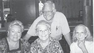 Attending the Hatton family reunion at the Cowan Community Center were Vickie Hatton Underwood of Carey, Ohio; Oma Hatton of Whitesburg; Hazel Hatton Hart of Whitesburg; and Ray Hatton Sr. of Tennessee.