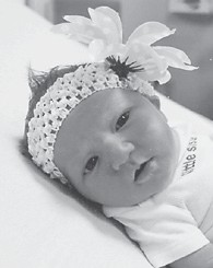 Madelyn Pearl Fleming was born Sept. 9 at Whitesburg Appalachian Regional Hospital. She is the daughter of Matthew and Jamie Fleming of Little Dry Fork. Her grandparents are Jimmy and Rhonda Stidham of Little Dry Fork, and Russell and Michelle Fleming of Mayking. She is the sister of Ryder Fleming, 2.