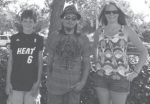"""Two former Letcher County residents have roles in a crime drama called """"LAW DOG 2"""", which is being filmed in Florida. Dalton and Kenzie Conn have relatives who still live in Letcher County. Pictured from left are Dalton Conn, co-star Jose Gonzalez and Kenzie Conn."""