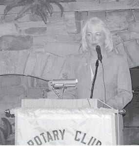 was a guest of the Rotary Club of Whitesburg on Sept. 13. She has served as State Representative of the 94th District since 2007 and is chair of the House Tourism Development and Energy Committee. She presented an update on what is happening in the state capital and what can be expected in the months ahead as the General Assembly readies for the legislative session beginning in January. She discussed the budget, education, coal severance funds and the job markets and entertained questions.