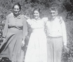 Dorthy Pennington Tacket is pictured with her parents, the late Henry and Dora Pennington.