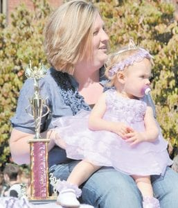 PRETTY AS A PRINCESS — Kennedy Sexton is the pageant winner in the 7 to 12 months category.