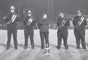The Letcher County Central High School Band participated in the Lonesome Pine Band Festival in Wise, Va., on Saturday. The band received a Division II rating and placed third in Class AA competition for General Effect. Next week the LCCHS Band will be at the McChesney Band Festival in Big Stone Gap, Va. Pictured from left to right are Josh Bunch, Samantha Short, Alex Fickey, Cory Baker and Dalton Hall.
