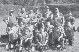 The East Letcher Cougars B Team won against Adams Elementary on Sept. 24 at a bowl tournament at Letcher Field. The score was 22-16. Players are (left to right, first row) Brandon Slone, Cameron Whitaker, (second row) Luke Pease, Nathan Slone, Caleb Fultz, Cody Austin, Noah Brock, Haden Fleming, Garrett Sergent, Hunter Johnson, Lance Bentley, Dylan Webb, Jacob Polly, Logan Short, Dylan Fultz, Zack Isaac and (back) Jaden Holbrook. Coaches are Wayne Austin, Aaron Holbrook, bus driver Dean McBee, Donald Pease and Nicky Jo Johnson.