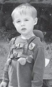 Kevin Gage Caudill will celebrate his third birthday on Oct. 7. He is the son of Kevin and Muyranda Caudill of Whitesburg. His grandparents are Corene Miles of Whitesburg and the late Dempsey Miles of Pikeville, Mahala Bailey of Hyden, and the late Guy Roberts of Hyden.