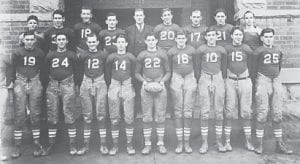 The 1935-36 Carlisle Musketeers. Mr. Armstrong is the fourth one from the left on the back row.
