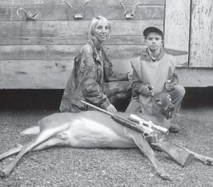 — Kane Gibson, a nine-year old fourthgrade student at Cowan Elementary School, killed this doe during the recent youth season while hunting with his mother. He is the son of Owen and Nikki Gibson of Cowan, and the grandson of Leonard and Kay Boggs, also of Cowan, Codell and Debbie Gibson of Craft's Colly, and Carlene and Kenneth Oliver of Columbia. He has an older brother, Owen II, 11.