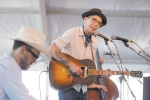 Justin Townes Earle (right), who has appeared twice in Whitesburg, performed at the Newport Folk Festival in Newport, R.I., in July. (AP)