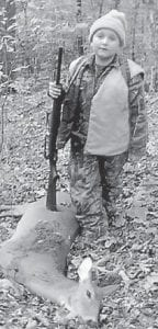 — Deegan Fields, 7, harvested his first deer during the Youth Hunt Oct. 9 in Letcher County. He is in the second grade at Letcher Elementary School and enjoys spending time outdoors. He is the son of Brian and Michelle Fields of Cornettsville.