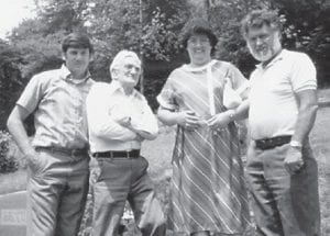 Bobby Ray Howard and the late Bill Howard, father of Whitesburg correspondent Oma Hatton, are pictured with Linda Pennington Hall and the late Bobby Pennington.