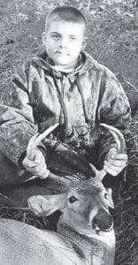 JACOB M. EASTERLING killed a five-point deer, his first, Oct. 8 at Millstone. He is 11 years old and is the son of Larry Easterling of Millstone.