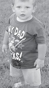 — Gavin Kendrick Lee Eldridge will celebrate his second birthday on Oct. 23 with friends and family. He is the son of Ashley and Justin Eldridge of Whitesburg. His grandparents are Lois and David Stewart of Pine Creek, and Maggie and Scotty Eldridge of Cane Hollow.