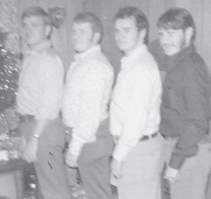 THE FOUR SONS of Oma Hatton and the late Clyde Hatton, Robert, Astor, Billy and Larry, are pictured in the photograph made at Christmas 1973.