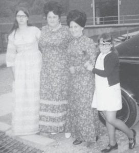This photograph of Kathy Niece Adams, Shirley Niece, Kathleen Howard Brock and Tammy Niece Allen was made a few years ago.