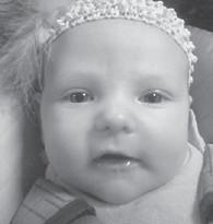 Chloe Wright was born August 28 to Mark and Ellena Wright of Kona. She is the granddaughter of Robert and Rose Adams of Haymond, and Jesse and Esther Wright of Payne Gap.