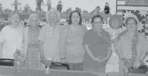at the Kingscreek Senior Citizens Center are (left to right) Erva Hart, Ethel Banks, Margie Sturgill, Eulah Miller, Sue Williams, Faye Herron and Judy Eldridge.