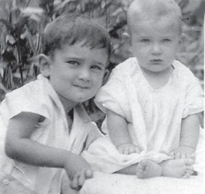Everett Vanover, who was named the 'cutest kid in Jenkins', and his younger brother, Dickie, are pictured in 1930. Everett Vanover served 27 years in the military and his brother served 22 years and was in Korea and Vietnam. The photograph was taken in front of their home on High Street in Jenkins.