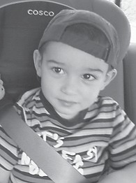 will turn three years old on Nov. 21. He is the son of Brian and Bobbie Eldridge. His grandparents are Dwayne and Robin Kincer of Jenkins, and Ben and Barbara Eldridge of Kingscreek.