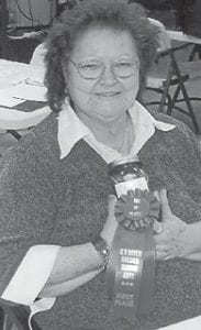 """Opal Fouts of the Colson Senior Citizens Center won first place in Letcher County for her salsa, and second place at the Kentucky River Golden Arts in Hazard. Colson correspondent Creda Isaac says, """"All of us are so proud of her. Good job."""""""