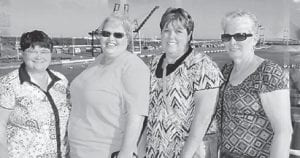 (Left to right) Mary Wanda Robinson, Doris Banks, Brenda Richardson and Wilma Sexton recently cruised to Key West and the Bahamas. They said the weather was perfect and they had a blast. They all work at Food City in Whitesburg, except Brenda Richardson, who is the secretary at Beckham Bates Elementary School.