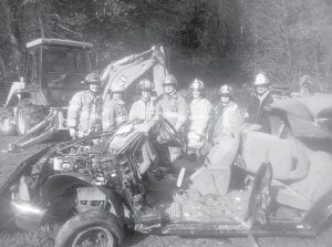 — The Whitesburg Fire Department recently hosted an emergency medical training class in auto extrication offered by Hazard Community and Technical College and taught by Bert Absher. From left to right are Derek Meade of Neon, Jamie Grubb of Letcher, Angela Collins of Isom, Joshua Bentley of Neon, Tiffany Gibson of Bonnyman, Mary Sexton of Hazard and Sam Adams of Isom. For more information about classes, contact Janet Hurley at (800) 246-5721 ext, 73068 or (606) 487-3068.