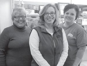 Alicia Cook and Lisa Bates were guests at a lunch in their honor for Family Nurse Practitioners Week. The lunch was given by Whitesburg Appalachian Regional Hospital Community Chief Executive Officer Dena Sparkman on Nov. 18. Cook practices at the ARH Family Care Center and Bates at the Whitesburg Clinic. Pictured are (left to right) Cook, Sparkman and Bates.