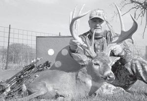 John F. Farmer killed this 15-point buck in Illinois with a bow and arrow.