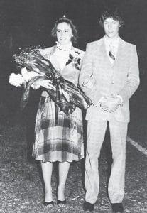 '81-'82 Homecoming Queen, Dottie Fields with her escort, Jeff Lucas.