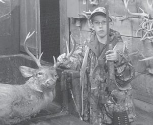 Owen Gibson II killed an eight-point buck during the recent gun season. He is an 11-year-old sixth-grade student at Cowan Elementary School. He is the son of Owen and Nikki Gibson of Cowan, and the grandson of Leonard and Kay Boggs, also of Cowan, Codell and Debbie Gibson of Craft's Colly, and Carlene and Kenneth Oliver of Columbia.